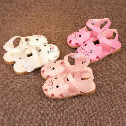 Child Toddler Baby Girl Cat Sandals Summer Princess Single Shoes Leather Sneaker
