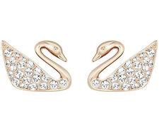 New Authentic Swarovski Swan Mini Crystal Pierced Earrings Rose Gold #5144289