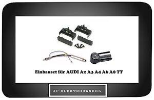 Set-Einbaurahmen-Antennenadapter-fuer-AUDI-A2-A3-A4-A6-A8-TT-Radioblende-R40