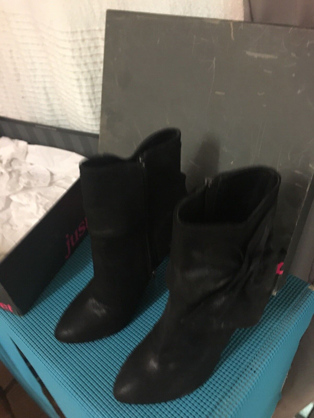 Jennifer Lopez JLO Just Sweet Sweet Sweet Justsweet black boots shoes size US 6 new in box 8f3a28
