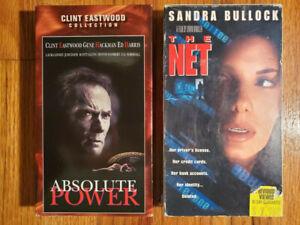 Lot2-Absolute-Power-97-The-Net-95-VHS-HTF-OOP-Original-Rare-Thriller-Crime