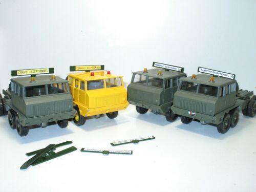 SOLIDO bandeau métal TRANSPORT EXEPTIONNEL berliet T12 militaire 1990/'  1 patte