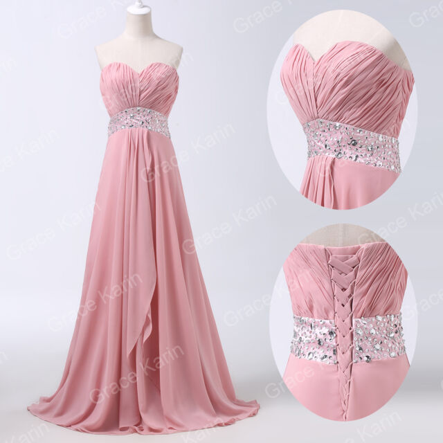 new Long Evening Gown Formal Wedding Bridesmaid Ball Prom Party Dress Plus Size