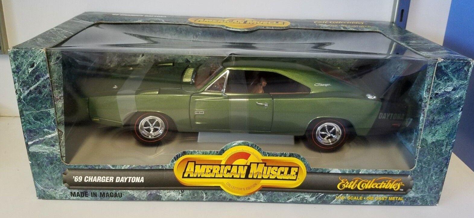 tiempo libre 1 18 Ertl American Muscle Muscle Muscle 10 más rápido 1969 Dodge Daytona verde YD  tienda de descuento