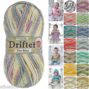 110cd4ee6 King Cole Drifter For Baby DK 100g Cotton   Wool   Acrylic Knitting ...