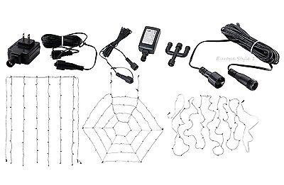 Ikea SKRUV Led Lighting Net 48 Lights Outdoor Black 002.955.92 /& Extension Web