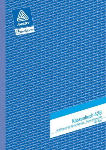 Zweckform 426 Kassenbuch DIN A4,Steuerschiene 300 100 Blatt weiß