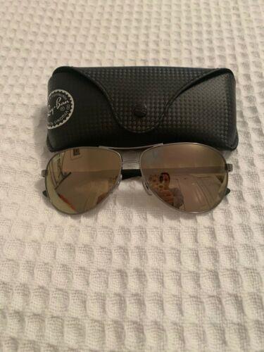 rayban aviator polarized mirrored sunglasses