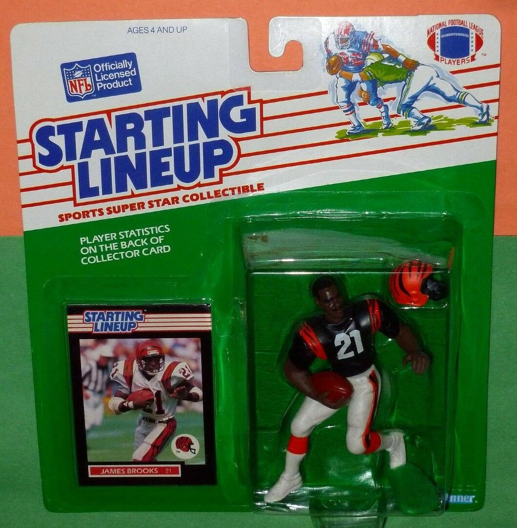 1989 James Brooks Cincinnati Bengals casi como nuevo +  LIBRE S H  AFC Starting Lineup