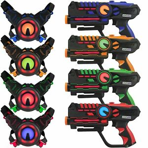 Infrared-Laser-Tag-Guns-and-Vests-Laser-Battle-Mega-Pack-of-4-Infrared-0-9mW