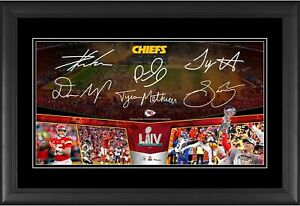Kansas City Chiefs Frmd 10x18 SB LIV Champs Road to the SB Collage & Facsimiles