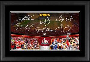 Kansas City Chiefs Frmd 10x18 SB LIV Champs Road to the SB Collage & Facsimiles