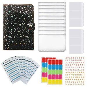 26 Pieces A6 Notebook Binder Budget Planner Organizer Waterproof 6-Ring Binde...