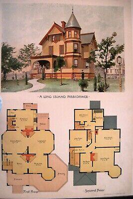 """Long Island Mansion 1890 Ergänzung Zu Den """" Scientific American Architects W Baupläne Gebäudebausätze"""