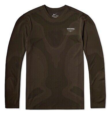 Nike x undercover GYAKUSOU à Manches Longues Homme Sweat carte TOP 743346 260 | eBay