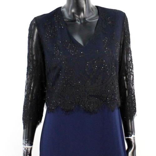 Mont 38 Navy Schwarz Kleid Elegant Blau A2891 Vera Jerseykleid Rock Gr Damen Neu qSUOZYdwc