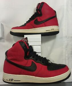 Nike Air Force 1 High 315121 603 Red Black Men S Size 7 5