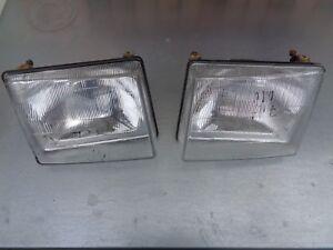 Scheinwerfer-Lampe-Fiat-Uno-links-rechts-Hauptscheinwerfer-1983-89