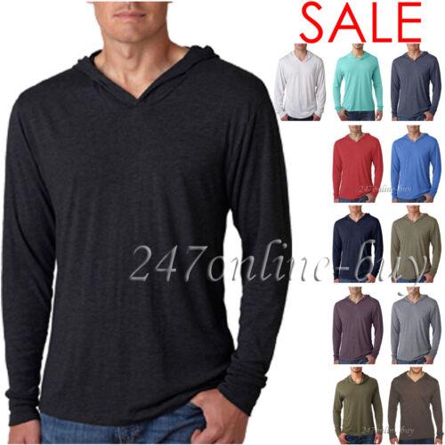 T shirt 6021 Next Level Tri Blend Lightweight Tee Hooded Mens /& Womens Unisex