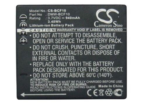 BATTERIA agli ioni di litio per Panasonic Lumix DMC-FS15 Lumix dmc-fx48k Lumix dmc-fh20r NUOVO
