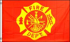 3x5 Fire Department Cross Maltese Flag 3'x5' Banner grommets 100D Polyester
