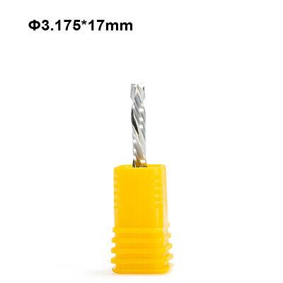 3p 4mm *17mm Left Spiral Milling Cutter Down Cut Two Flute CNC Wood Router Bit