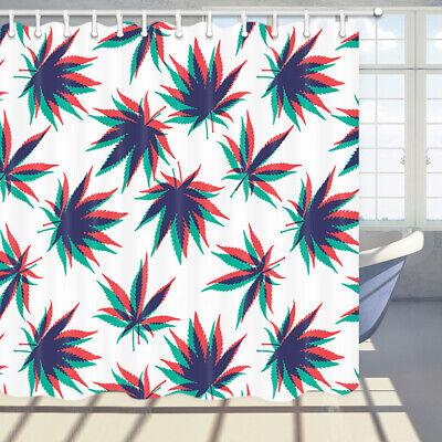 Marijuana Leaf Fantasy Shower Curtain Bathroom Decor Fabric /& 12hook 71 In