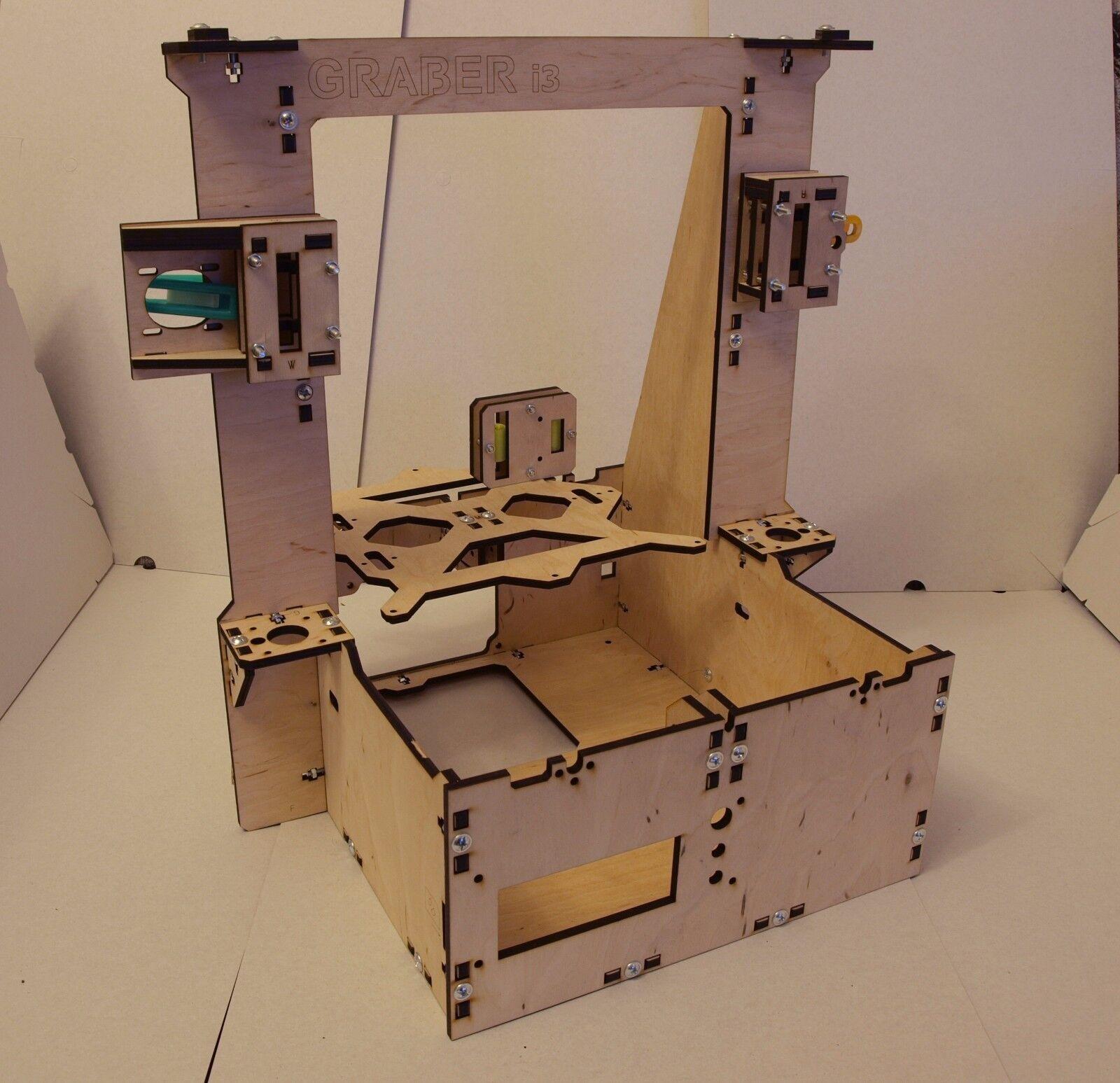 VAT Free Reprap Graber i3 Laser Cut Frame 6 mm in 6mm Plywood 3D Printer Part