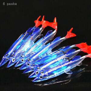 5Pcs-Minnow-Night-Fishing-Leurre-Crank-Bait-Hooks-Bass-Poisson-Crankbait-Tackle-surpr