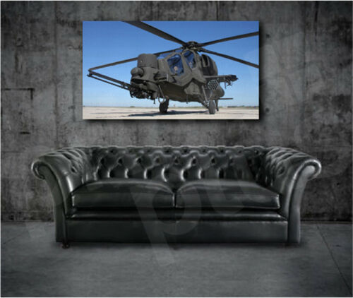 Mangusta Helicopter Aircraft Art Canvas Poster Print Home Wall Decor