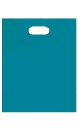 """1000 Plastic Bags Blue Diecut Handles Shopping Retail Merchandise 12/"""" x 15/"""" High"""