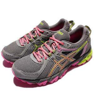 ASICS Womens GEL Sonoma 2 AluminumNeon LimeHot Pink Trail
