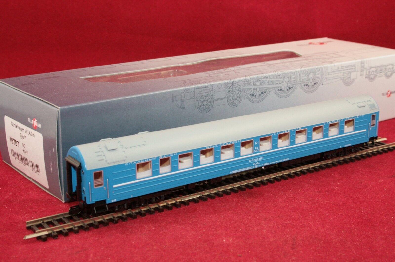 Tillig TT 16707 BC vagone letto in blu con formatura /Nuovo/Scatola Originale