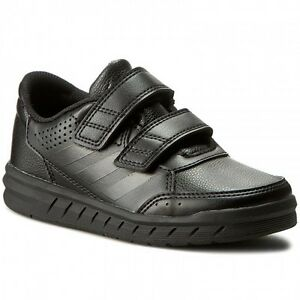 Details about Adidas Alta Sport CF Kids Boys Trainers Shoes - Black