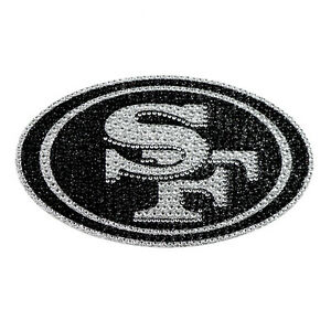 448f5535 Details about San Francisco 49ers Bling Auto Emblem [NEW] NFL Car Decal  Glitter Sticker CDG