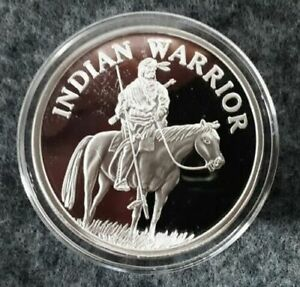 Indian-Native-American-Warrior-on-Horse-1-OZ-999-Fine-Silver-Round-Coin