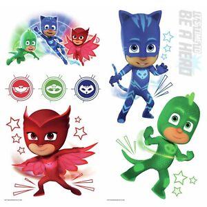 New-PJ-MASKS-Stickers-Glow-In-Dark-8-Wall-Decals-Catboy-Owlette-Gekko-Room-Decor