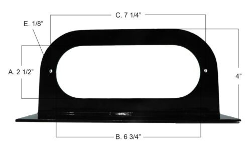 """MOUNTING BRACKETS for 6/"""" Oval Tail Light Powder Coated Trailer RV Optronics 6"""