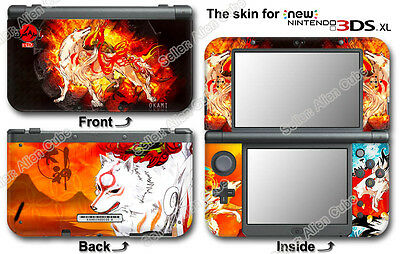 Okami Amaterasu Amazing Skin Sticker Cover Decal for NEW Nintendo 3DS XL (2015)