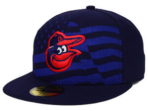 fd660a5a9 Details about Official MLB 2015 Baltimore Orioles July 4th New Era 59FIFTY  Fitted Hat