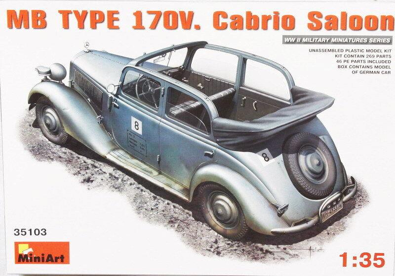 MINIART 1 35 KIT AUTO MILITARE TEDESCA MB TYPE 170V. CABRIO SALOON  ART 35103
