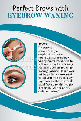 Nail Salon Poster - Eyebrows Waxing - Microblading Poster ...