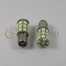 2 x Bombillas 27 LED SMD 5050 BA15D Coche Freno, DRL, Posicion... Blanco Xenon