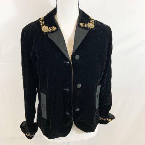 Vintage Koret of California Black Velvet Rhineston