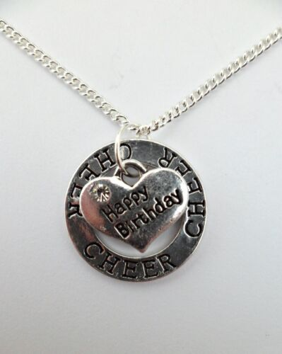 Bag 925 STERLING SILVER NECKLACE BIRTHDAY MESSAGE Unique Charm Pendant Gift