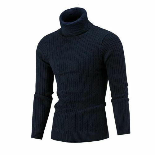 Winter Men/'S Pullover Cable Turtleneck Fit Knitted Sweater Knit Slim Lightweight