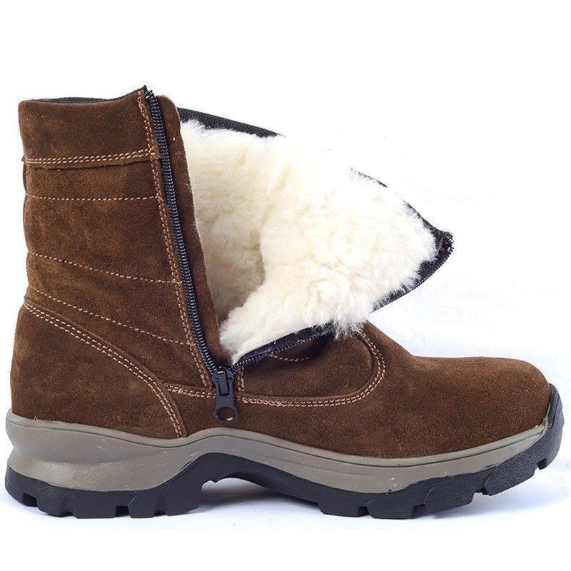 Mens Boots Warm Fur Lining Ankle Flat Zipper shoes Snow Winter Waterproof SZ B1