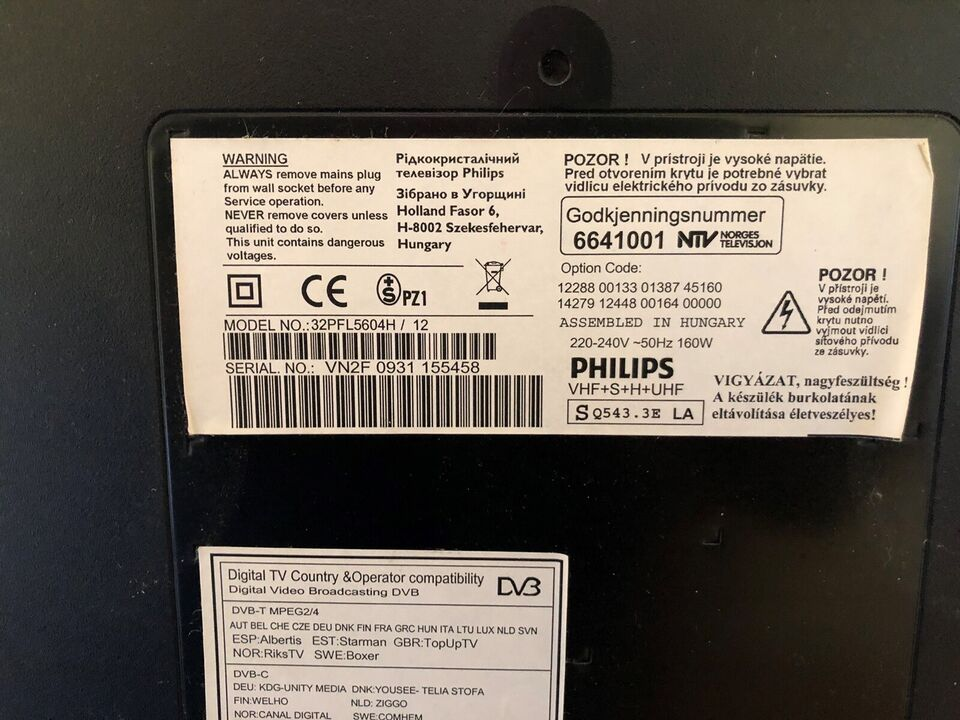 andet, Philips, 32PFL5604H