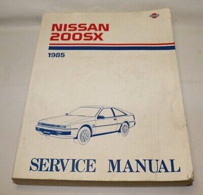 200SX 1985 NISSAN SHOP MANUAL SERVICE REPAIR BOOK
