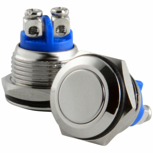 HORN switch simple 2 wire High QUALITY Polished SS Stainless Steel 12v DC